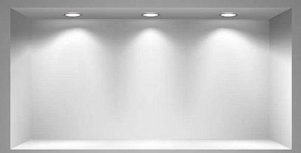 Innenbeleuchutng in der Wand eingebaut