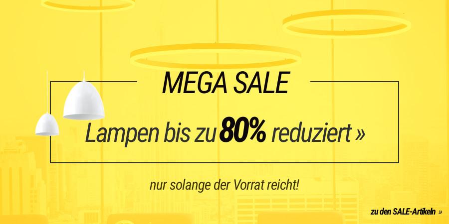 MEGA Lampen & Leuchtne Sale - bis zu 80% reduziert