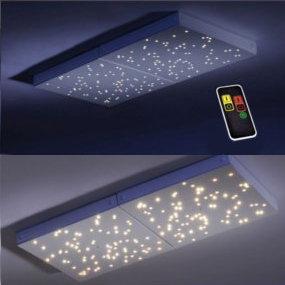 Lichtszenen können bei LED-Leuchten mit Fernbedienung eingestellt werden
